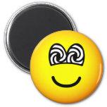 Hypnotized emoticon   fridge_magents_magnet