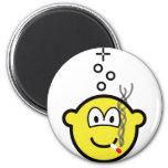 Stoned buddy icon Drugs are bad  fridge_magents_magnet