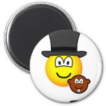 Groundhog day emoticon shadow  fridge_magents_magnet