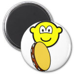 Tambourine playing buddy icon   fridge_magents_magnet
