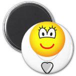 Heart shaped locket emoticon   fridge_magents_magnet
