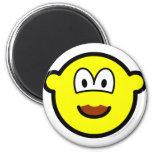 Chocolate mustache buddy icon   fridge_magents_magnet