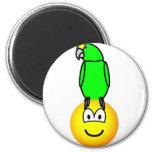 Parrothead emoticon   fridge_magents_magnet