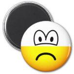 Half empty emoticon Pessimist  fridge_magents_magnet