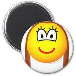 Brunette emoticon   fridge_magents_magnet