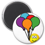 Party balloons emoticon   fridge_magents_magnet