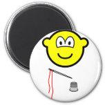 Thimble and needle buddy icon   fridge_magents_magnet