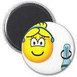 Assepoester emoticon slipper  fridge_magents_magnet