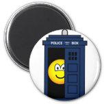 Dr Who emoticon Tardis  fridge_magents_magnet