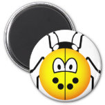 Lieveheersbeestje emoticon geel  fridge_magents_magnet
