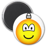 Christmas ball emoticon   fridge_magents_magnet