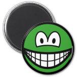 Colored smile green  fridge_magents_magnet