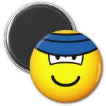 Sun visor emoticon   fridge_magents_magnet