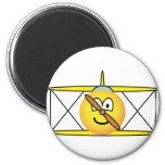 Biplane emoticon   fridge_magents_magnet