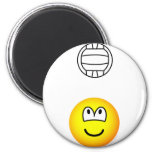 Volleyball playing emoticon   fridge_magents_magnet