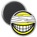 Blindfolded smile   fridge_magents_magnet