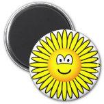 Sunflower emoticon   fridge_magents_magnet