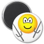 Sai emoticon martial arts  fridge_magents_magnet