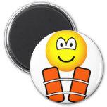Life jacket emoticon   fridge_magents_magnet