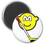 Ice hockey buddy icon puck  fridge_magents_magnet