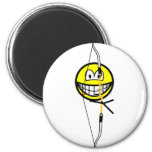 Archery smile Olympic sport  fridge_magents_magnet