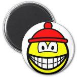 Bobble hat smile   fridge_magents_magnet