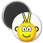 Bunny ears emoticon   fridge_magents_magnet