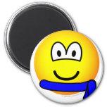 Blue belt emoticon   fridge_magents_magnet