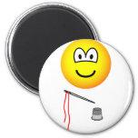 Thimble and needle emoticon   fridge_magents_magnet