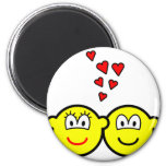 Two Buddy icons in love   fridge_magents_magnet
