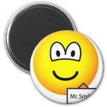 Name tag emoticon   fridge_magents_magnet