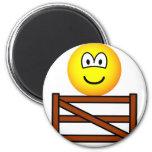 Sitting on the fence emoticon   fridge_magents_magnet