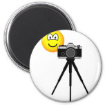 Camera emoticon with tripod  fridge_magents_magnet