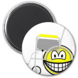 Wheelchair smile Side view  fridge_magents_magnet