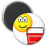 Shopping emoticon Basket  fridge_magents_magnet