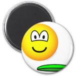 Frisbeeing emoticon   fridge_magents_magnet