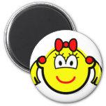 Schoolgirl buddy icon   fridge_magents_magnet