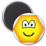 Hexagon emoticon   fridge_magents_magnet