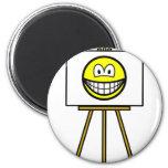 Painted smile   fridge_magents_magnet