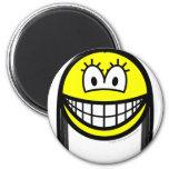 Black haired smile   fridge_magents_magnet
