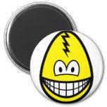 Egg smile Cracked egg  fridge_magents_magnet