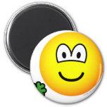 Good luck clover emoticon Holding  fridge_magents_magnet
