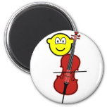 Cello playing buddy icon   fridge_magents_magnet