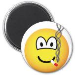 Smoking emoticon   fridge_magents_magnet