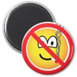 No smoking emoticon   fridge_magents_magnet