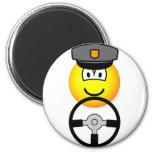 Driving chauffeur emoticon   fridge_magents_magnet
