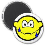 Nervous buddy icon Sweating  fridge_magents_magnet