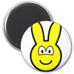 Bunny buddy icon   fridge_magents_magnet