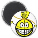 Voodoo doll smile   fridge_magents_magnet