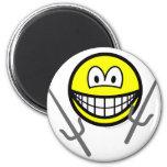 Sai smile martial arts  fridge_magents_magnet